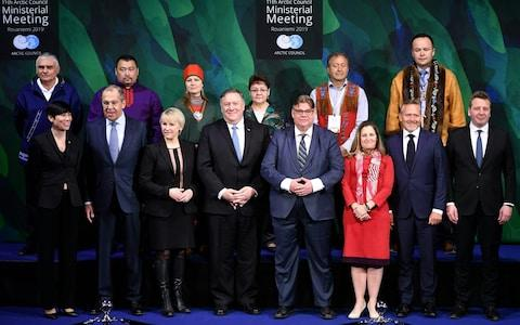 <span>The Arctic Council's annual summit ended with a declaration being cancelled for the first time since it was formed in 1996</span> <span>Credit: AFP </span>