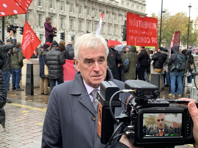 Labour shadow chancellor John McDonnell. Photo: Yahoo Finance UK / Tom Belger