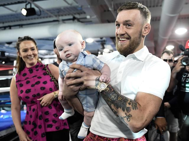 Conor McGregor's son Conor Jack has a new little sibling in tow for 2019.(Getty Images)