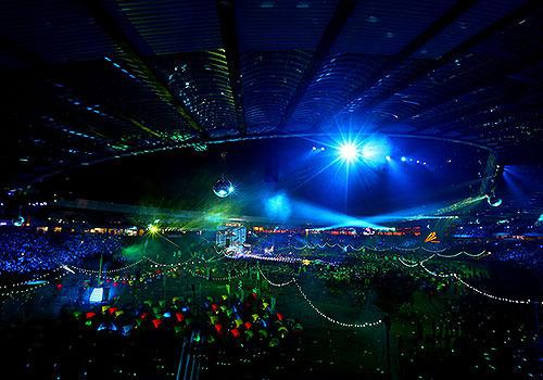 A general view during the Closing Ceremony for the Glasgow 2014 Commonwealth Games at Hampden Park.
