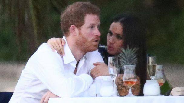 PHOTO: Royal couple Prince Harry and his girlfriend Meghan Markle were spotted attending a friend's wedding in Jamaica, March 3, 2017. (SBMF/MiamiPIXX/Fameflynet Picture)