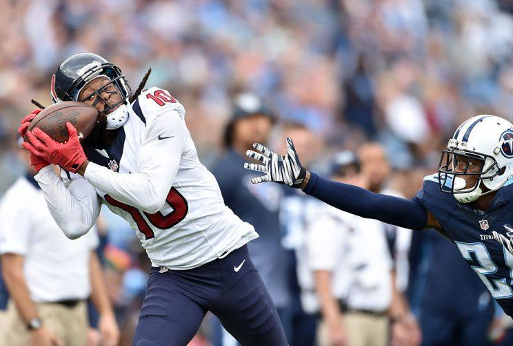 DeAndre Hopkins cannot be covered. Nope. (Photo by Ronald C. Modra/Sports Imagery/Getty Images)