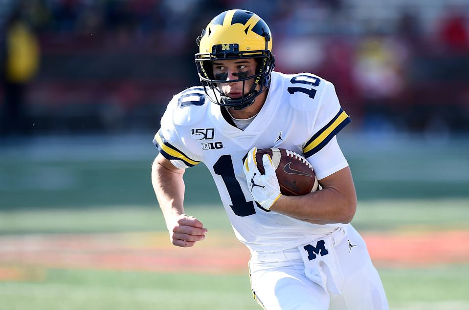 Dylan McCaffrey of the Michigan Wolverines
