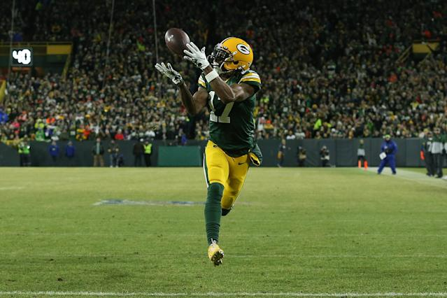 Davante Adams might separate himself in the 2020 fantasy season. (Dylan Buell/Getty Images)