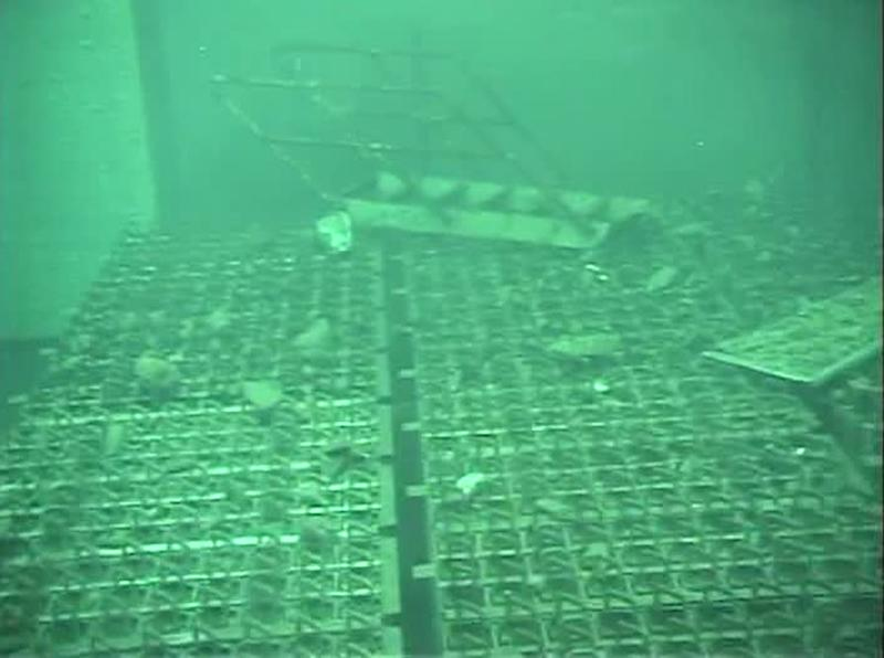 FILE - This Saturday May 7, 2011 file image from video footage released by Tokyo Electric Power Co. (TEPCO) shows spent fuel storage pool of the Unit 4 reactor building at the crippled Fukushima Dai-ichi nuclear power plant in Okuma town, Fukushima Prefecture, northeastern Japan.  Japan's crippled nuclear power plant is struggling to find space to store tens of thousands of tons of highly contaminated water used to cool its broken reactors. Up to 200,000 tons of radioactive water - enough to fill more than 50 Olympic-sized swimming pools - are being stored in hundreds of gigantic tanks built around the Fukushima Dai-ichi plant. The amount is expected to more than triple within three years, mainly because ground water is leaking into damaged reactor buildings.   (AP Photo/Tokyo Electric Power Co., File) EDITORIAL USE ONLY