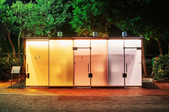 tokyos newest public bathroom features transparent walls tokyo toilet project 2