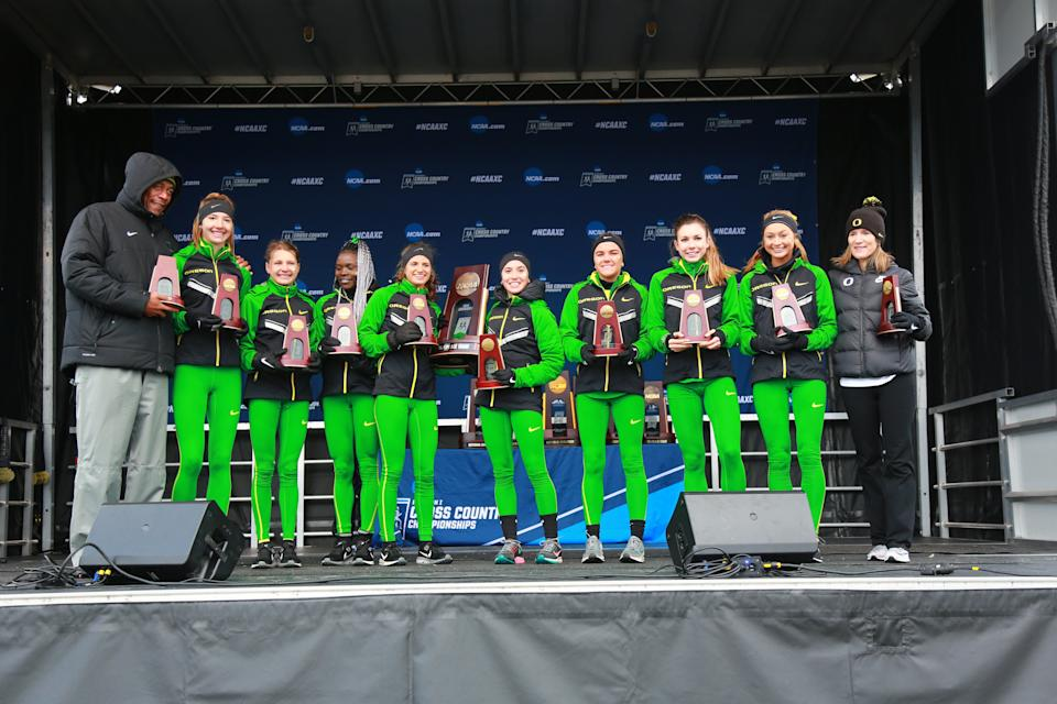 Best sports: women's cross country, women's indoor track & field, women's basketball. Trajectory: down. The Ducks were outside the Top 25 for 2018-19, the first time that's happened since 2011. Oregon always runs well (track and cross country), but this year it added a women's basketball Final Four for the first time. The women's volleyball team also was the lowest-seeded team (15th) to make a regional final, their deepest run since 2012.