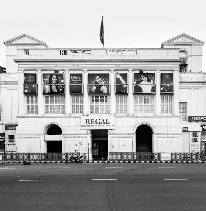 The historic Regal cinema house in Connaught Place