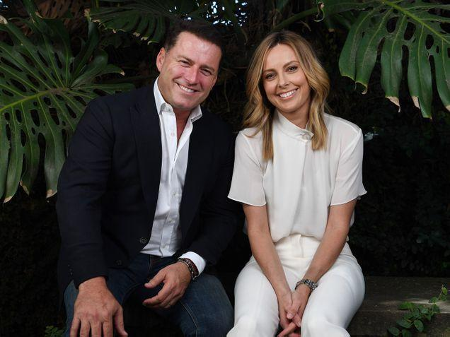 Karl Stefanovic and Allison Langdon pose in a promotional Nine shot for Today show