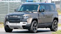 """<p>The more powerful, V8-powered <a href=""""https://www.motor1.com/land-rover/defender/"""" rel=""""nofollow noopener"""" target=""""_blank"""" data-ylk=""""slk:Land Rover Defender"""" class=""""link rapid-noclick-resp"""">Land Rover Defender </a>could keep the British brand's rugged model competitive against the new <a href=""""https://www.motor1.com/ford/bronco/"""" rel=""""nofollow noopener"""" target=""""_blank"""" data-ylk=""""slk:Ford Bronco"""" class=""""link rapid-noclick-resp"""">Ford Bronco</a>.</p> <h3><a href=""""https://www.motor1.com/news/435256/land-rover-defender-v8-spied/"""" rel=""""nofollow noopener"""" target=""""_blank"""" data-ylk=""""slk:Land Rover Defender V8 Spy Photos Hide Only The Mystery Engine"""" class=""""link rapid-noclick-resp"""">Land Rover Defender V8 Spy Photos Hide Only The Mystery Engine</a></h3> <br><a href=""""https://www.motor1.com/news/425538/land-rover-defender-v8-spied/"""" rel=""""nofollow noopener"""" target=""""_blank"""" data-ylk=""""slk:Land Rover Defender V8 Spied Testing On The Road In Europe"""" class=""""link rapid-noclick-resp"""">Land Rover Defender V8 Spied Testing On The Road In Europe</a><br><a href=""""https://www.motor1.com/news/420287/land-rover-defender-v8-spied/"""" rel=""""nofollow noopener"""" target=""""_blank"""" data-ylk=""""slk:Land Rover Defender Spied Being Tested With V8 Engine"""" class=""""link rapid-noclick-resp"""">Land Rover Defender Spied Being Tested With V8 Engine</a><br>"""
