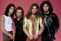 """<p>Formed in the 70s, the rock band was originally made up of brothers Eddie and Alex Van Halen, along with Michael Anthony and David Lee Roth as the frontman. The band had a lot of hits in the early 80s, like """"Jump"""", """"Panama"""" and """"Hot for Teacher."""" In the era when MTV actually played music videos, they did a slew of pop covers like """"California Girls"""", """"Just a Gigolo"""" and """"Pretty Woman"""" with fun videos. But in 1985 Roth left the band and Sammy Hagar took his place until 1996. </p>"""