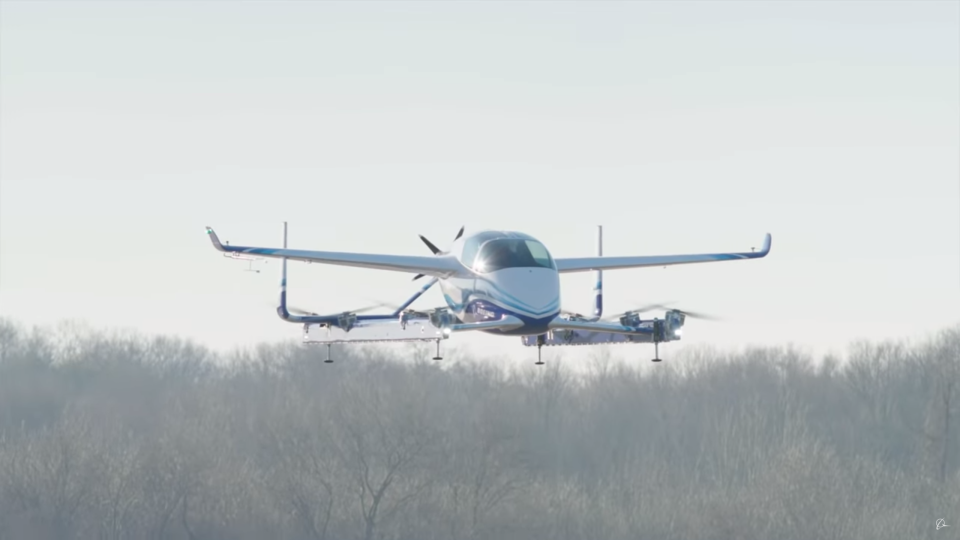"Boeing's entry into the ""flying car"" race hovered for about a minute during a test flight."