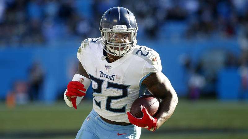 The Titans and Derrick Henry are reportedly still negotiating in hopes of a long-term deal. (AP Photo/Brian Blanco)