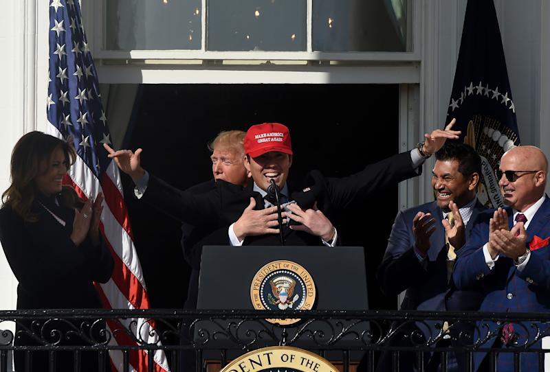 Kurt Suzuki and President Donald Trump, BFFs? (Getty)