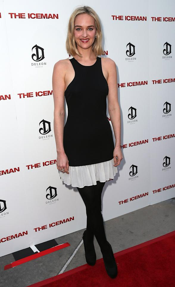 "HOLLYWOOD, CA - APRIL 22:  Actress Jess Weixler attends the Los Angeles special screening of Millennium Entertainment's ""The Iceman"" at ArcLight Hollywood on April 22, 2013 in Hollywood, California.  (Photo by David Livingston/Getty Images)"