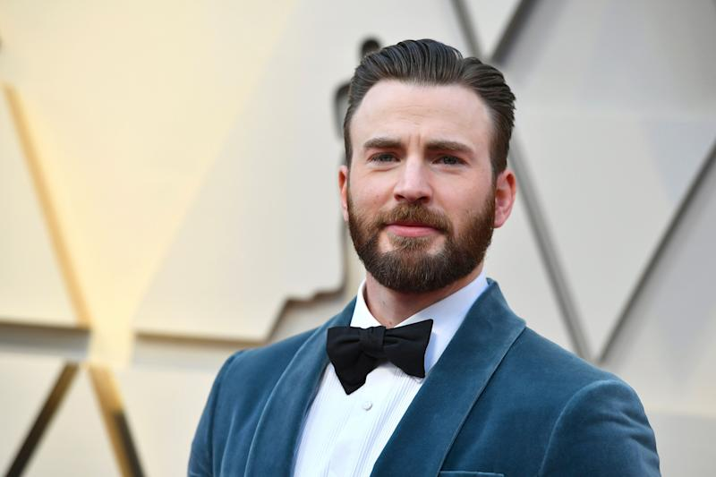 Chris Evans arrives at the Oscars on Sunday, Feb. 24, 2019, at the Dolby Theatre in Los Angeles. (Photo by Jordan Strauss/Invision/AP)