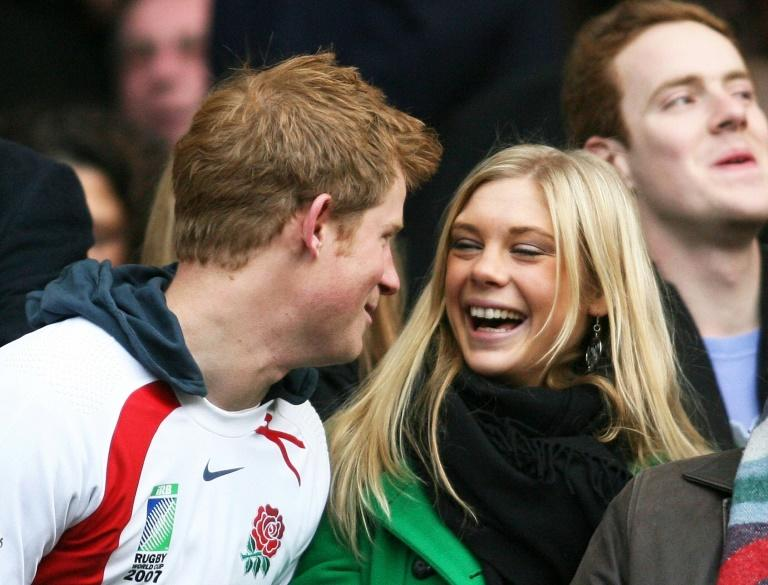 Prince Harry and Chelsy Davy attended a South Africa and England rugby match in London in 2008