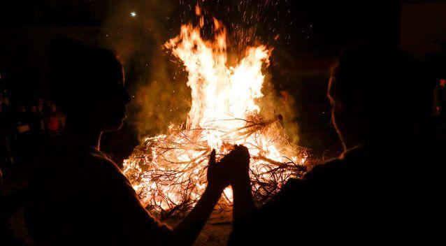 Fire burns in Olympos National Park, Greece to purge evil spirits. Source: Getty Images