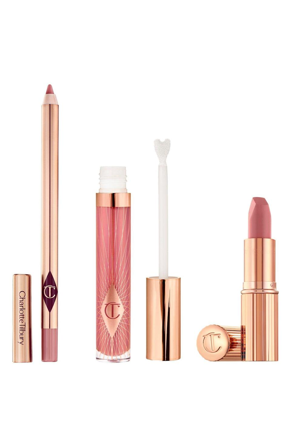 "<p><strong>CHARLOTTE TILBURY</strong></p><p>nordstrom.com</p><p><strong>$68.00</strong></p><p><a href=""https://go.redirectingat.com?id=74968X1596630&url=https%3A%2F%2Fwww.nordstrom.com%2Fs%2Fcharlotte-tilbury-pillow-talk-lip-secrets-set-91-value%2F5585559&sref=https%3A%2F%2Fwww.townandcountrymag.com%2Fstyle%2Fbeauty-products%2Fg33595678%2Fbeauty-buys-to-pick-up-during-the-2020-nordstrom-anniversary-sale%2F"" rel=""nofollow noopener"" target=""_blank"" data-ylk=""slk:Shop Now"" class=""link rapid-noclick-resp"">Shop Now</a></p><p><em>Value: $91</em></p>"
