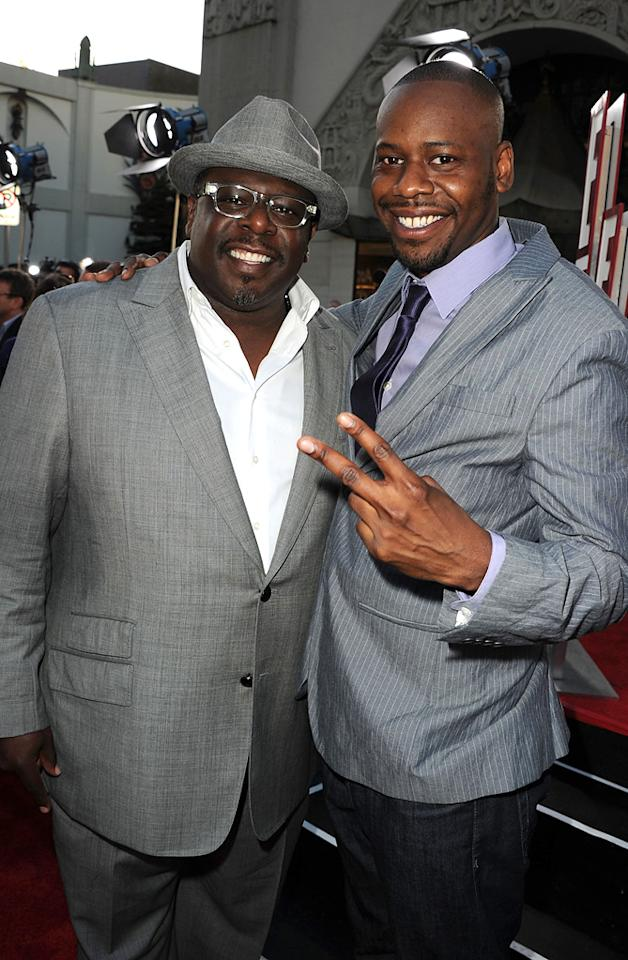 "<a href=""http://movies.yahoo.com/movie/contributor/1800314117"">Cedric the Entertainer</a> and <a href=""http://movies.yahoo.com/movie/contributor/1809126985"">Malcolm Barrett</a> at the Los Angeles premiere of <a href=""http://movies.yahoo.com/movie/1810196533/info"">Larry Crowne</a> on June 27, 2011."