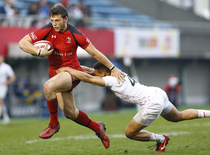 The Eagles have signed Canadian rugby star Adam Zaruba. (AP)