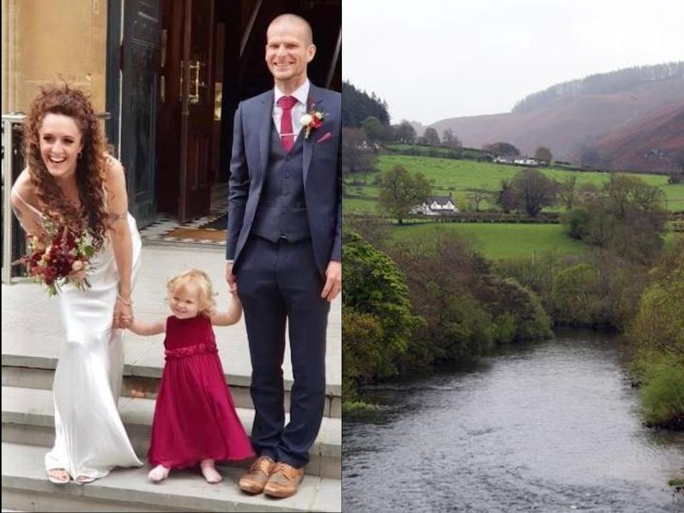 Jenna O'Neill's two-year-old daughter Ayla was thrown to safety by her husband during the terrifying ordeal at the Conscious Tribal Gathering in Denbighshire (reach)