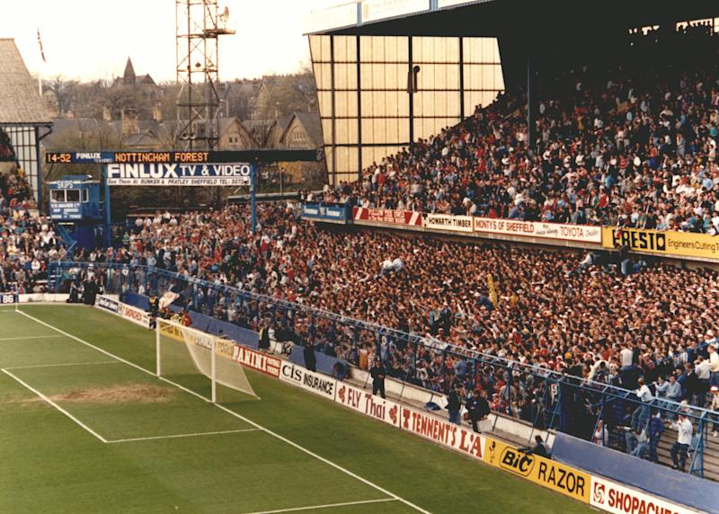 Undated handout file photo issued by the Hillsborough Inquests of the crowd in the West Terrace at Leppings Lane end of the Hillsborough football ground during the FA Cup Semi Final game between Liverpool and Nottingham Forest.