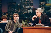 <p>Noel and Liam on The Tonight Show with Jay Leno on January 21, 1998.</p>