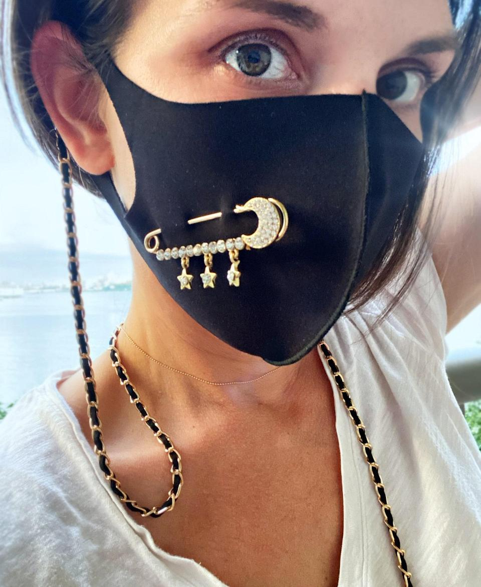 """This might be the most luxurious take on the face mask chain trend yet. $18, Etsy. <a href=""""https://www.etsy.com/listing/836232958/face-mask-classic-chain-holder-chain"""" rel=""""nofollow noopener"""" target=""""_blank"""" data-ylk=""""slk:Get it now!"""" class=""""link rapid-noclick-resp"""">Get it now!</a>"""