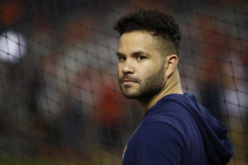 "Jose Altuve's agent Scott Boras encouraged him to respond to allegations ""defaming"" him. (AP Photo/Patrick Semansky)"