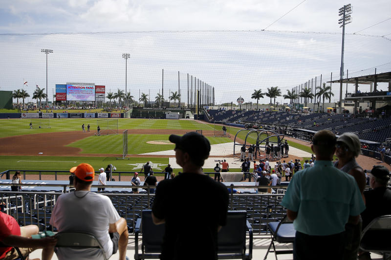 MLB is suspending spring training as of Friday and is reportedly going to delay opening day. (Photo by Michael Reaves/Getty Images)