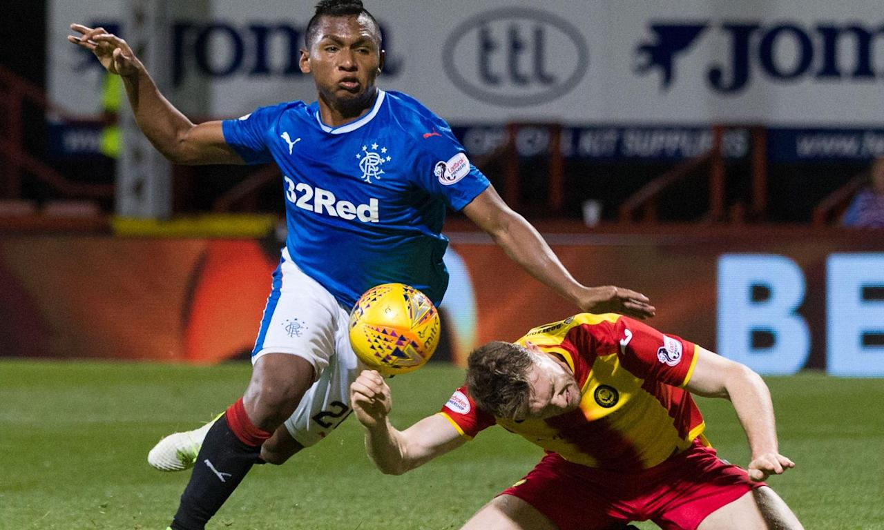 Alfredo Morelos will be Rangers' main goal threat against Celtic.