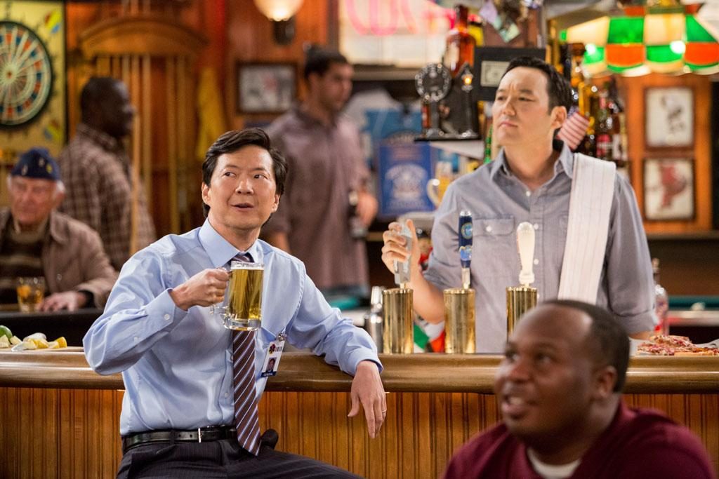 "Ken Jeong and Steve Byrne in the ""Sullivan & Son"" Season 2 Premiere, ""The Pilot, One More Time."""