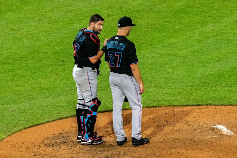 Another member of the Marlins has tested positive for coronavirus, but that's better than the results earlier this week. (Photo by John Jones/Icon Sportswire via Getty Images)