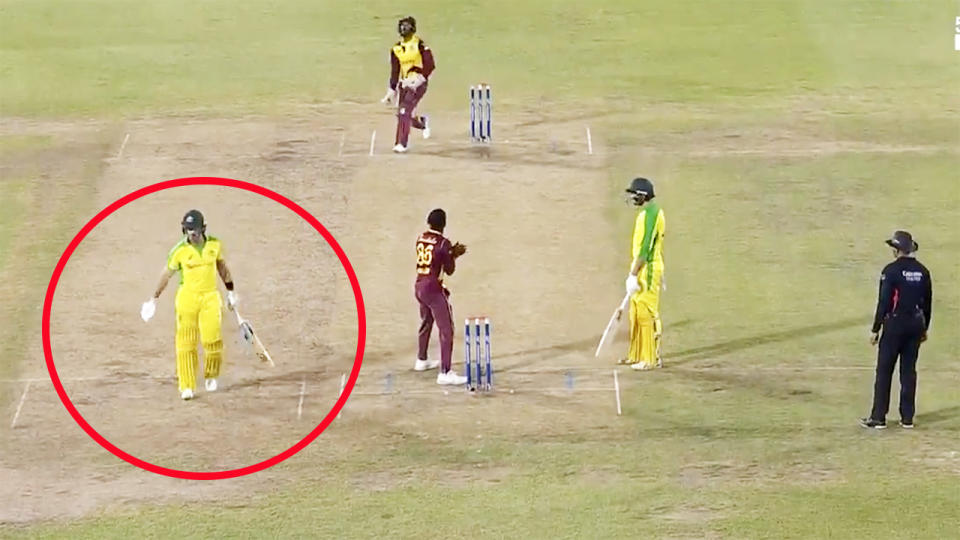 Dan Christian and Ashton Agar, pictured here at the same end.