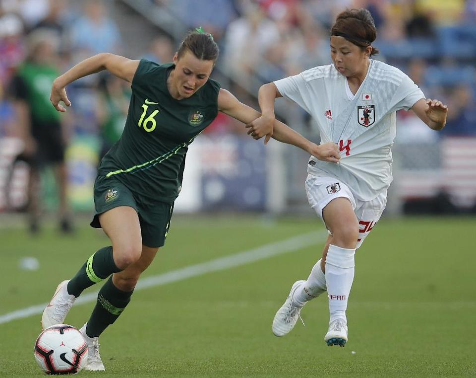 Australia's Hayley Raso has battled back to fitness after breaking her back. (AFP Photo/JIM YOUNG)