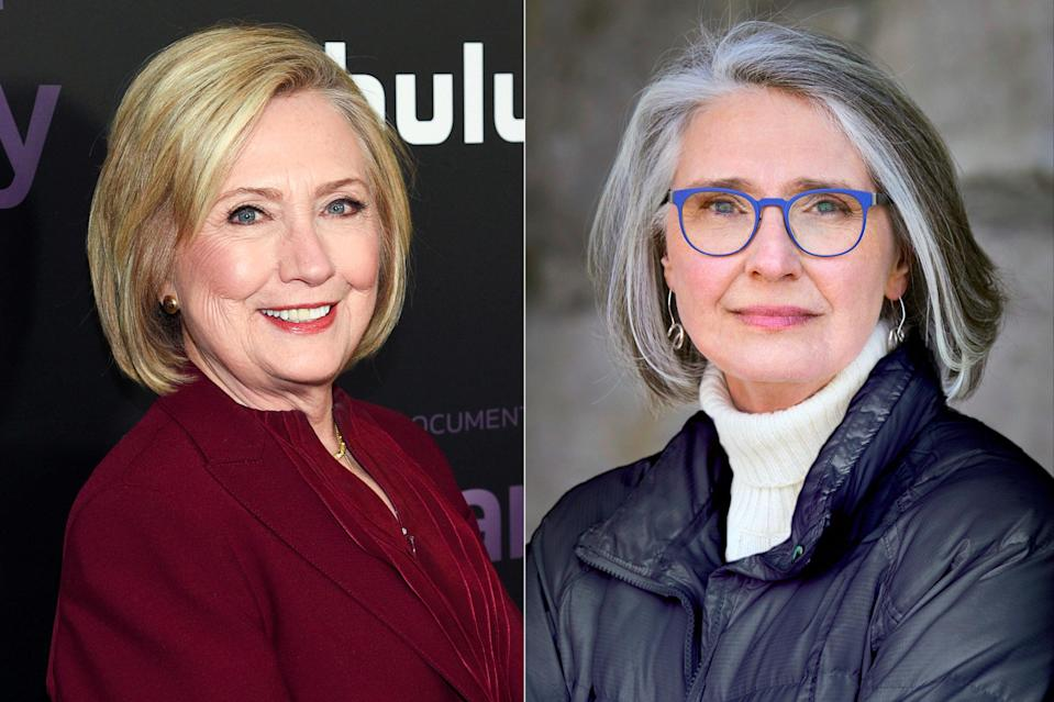 Hillary Clinton, left, and Louise Penny, who have teamed up on the novel State of Terror (AP)