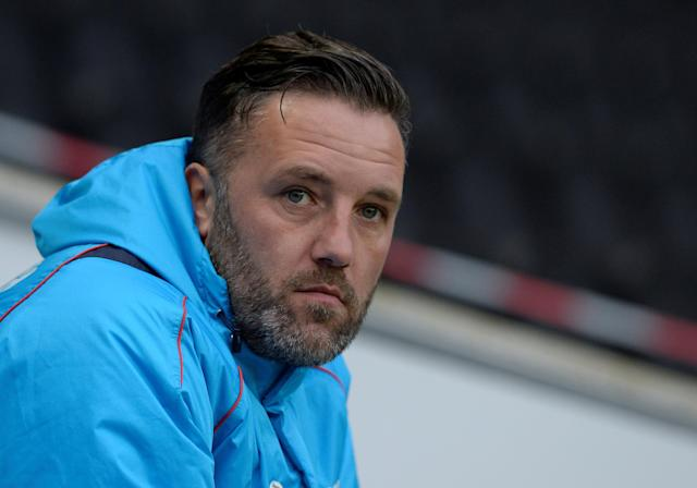 Soccer Football - FA Cup Second Round - Milton Keynes Dons vs Maidstone United - Stadium MK, Milton Keynes, Britain - December 2, 2017 Maidstone United manager Jay Saunders Action Images/Adam Holt