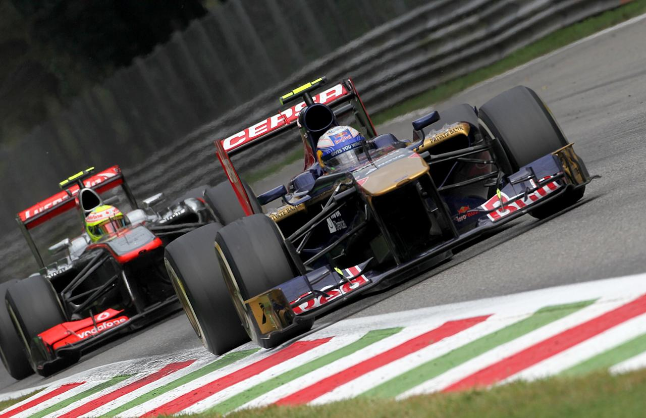 Toro Rosso's Daniel Ricciardo during the Italian Grand Prix and the Autodromo Nazionale Monza, Monza, Italy.