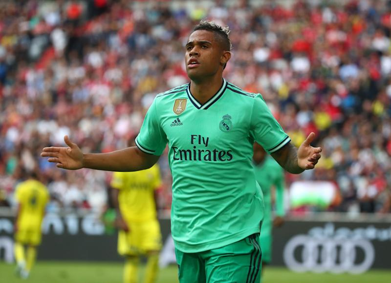 Soccer Football - Audi Cup - Third Place Play Off - Real Madrid v Fenerbahce - Allianz Arena, Munich, Germany - July 31, 2019 Real Madrid's Mariano celebrates scoring their fifth goal REUTERS/Michael Dalder