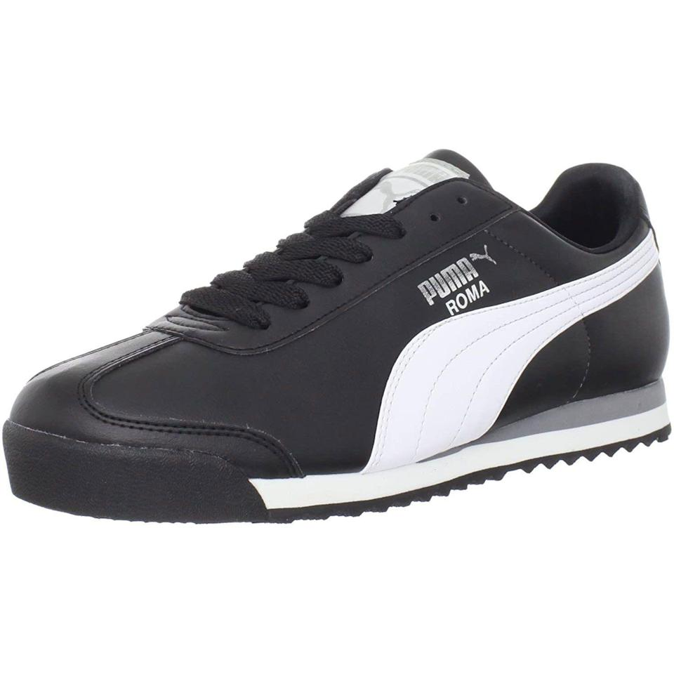 """<p><strong>PUMA</strong></p><p>amazon.com</p><p><strong>$38.94</strong></p><p><a href=""""https://www.amazon.com/dp/B006IOOB16?tag=syn-yahoo-20&ascsubtag=%5Bartid%7C10054.g.36803444%5Bsrc%7Cyahoo-us"""" rel=""""nofollow noopener"""" target=""""_blank"""" data-ylk=""""slk:Shop Now"""" class=""""link rapid-noclick-resp"""">Shop Now</a></p><p>Sleek and stealthy.</p>"""