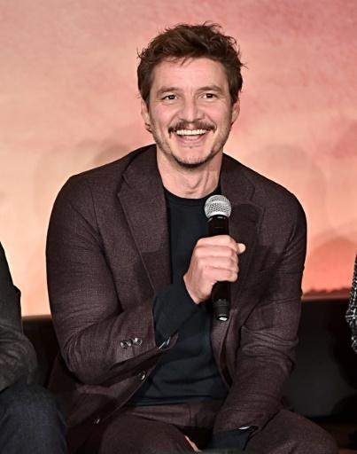 "Chilean actor Pedro Pascal, familiar to fans of ""Game of Thrones"" and ""Narcos,"" plays a masked bounty hunter known as The Mandalorian"