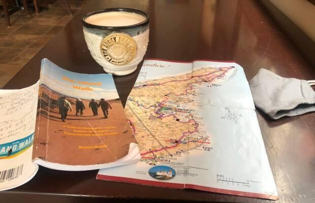 A guide to the Island Walk is available on the web, but Arsenault carried a paper version as well.