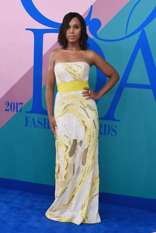 <p>The star of <em>Scandal</em> went for pure wow. (Photo: Getty Images) </p>
