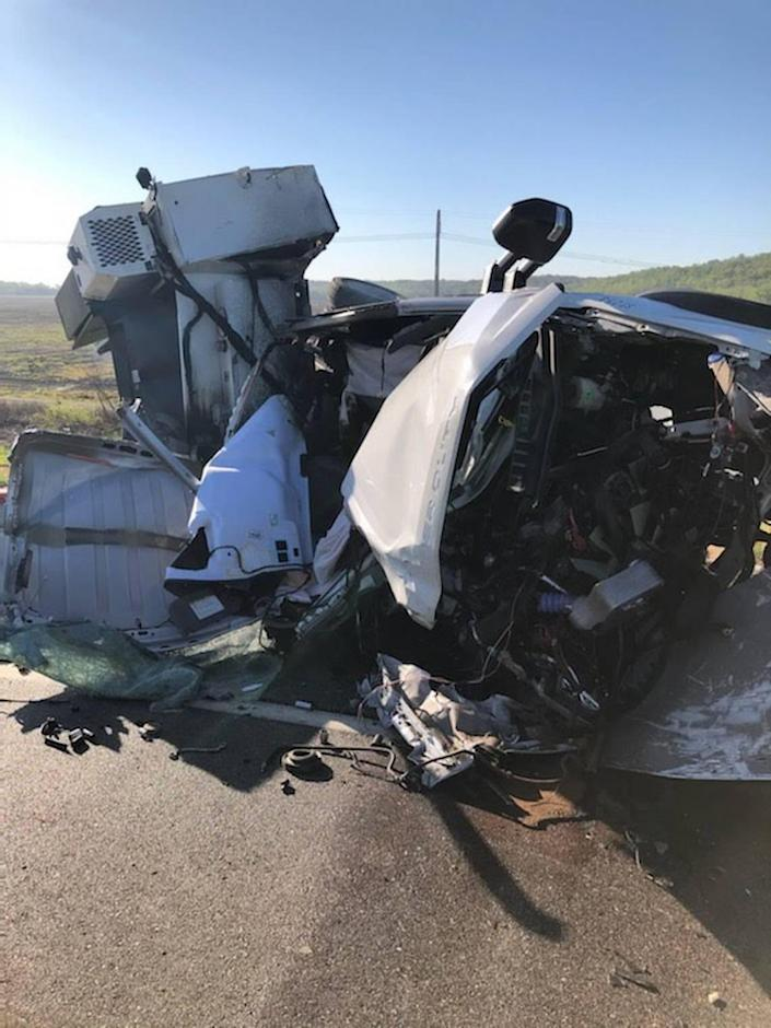 The driver of a utility truck was critically injured Friday morning when the truck collided with a semitruck along Interstate 435 in Kansas City, Kansas.