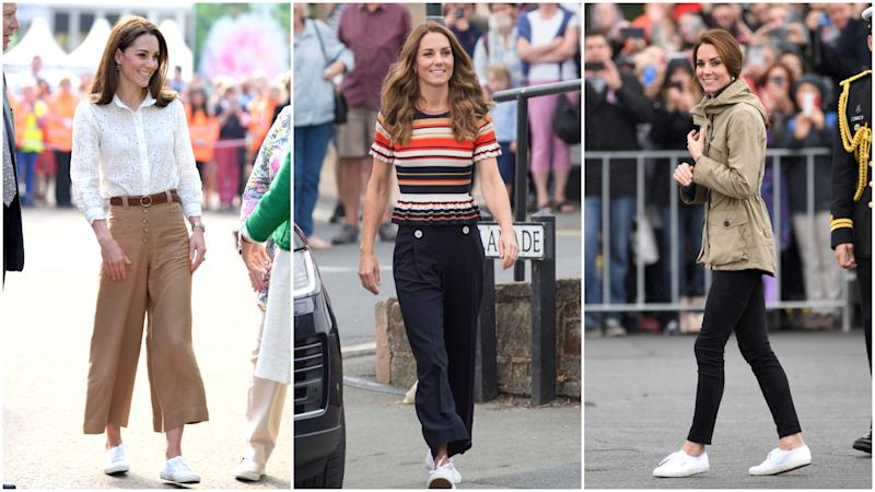 Kate Middleton avec des baskets Superga