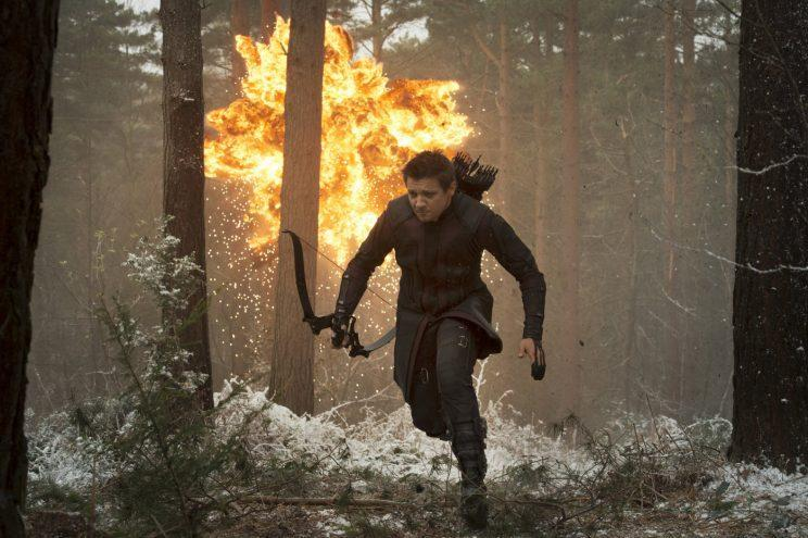Jeremy Renner as Hawkeye in 2015's 'Avengers: Age of Ultron' (credit: Marvel Studios)