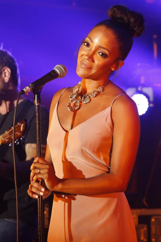 """<p>Mickey Guyton is the bright new hope of Nashville, a breakout country star for 2015. But she was cut right before the live shows of 'Idol' Season 8, and she received a particularly brutal edit: The only evidence of her entire run was a blink-and-you'll-miss-it snippet of her sitting in a Green Mile chair, being told """"it's a no."""" Clearly, Mickey is ready for her close-up now. This seaosn on 'Idol,' an auditioner even covers one of her songs.</p>"""