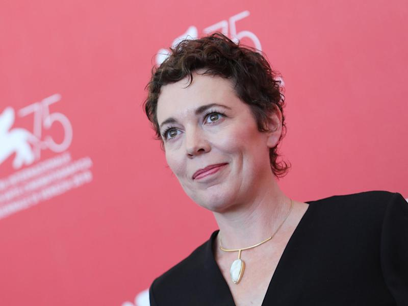Olivia Colman at the 75th Venice Film Festival in 2018: Photo by Vittorio Zunino Celotto/Getty