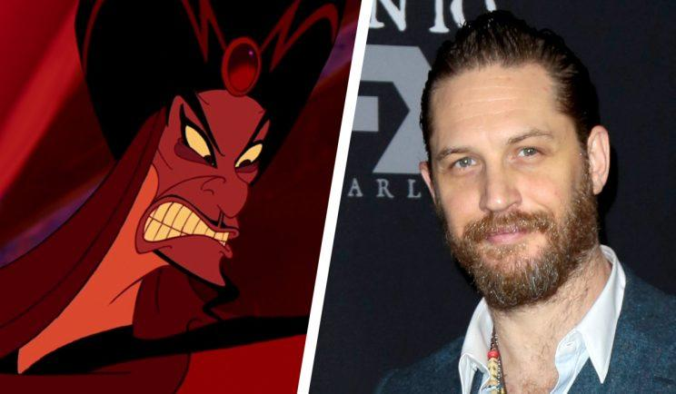 Tom Hardy is apparently in the running for Jafar - Credit: Disney/WENN